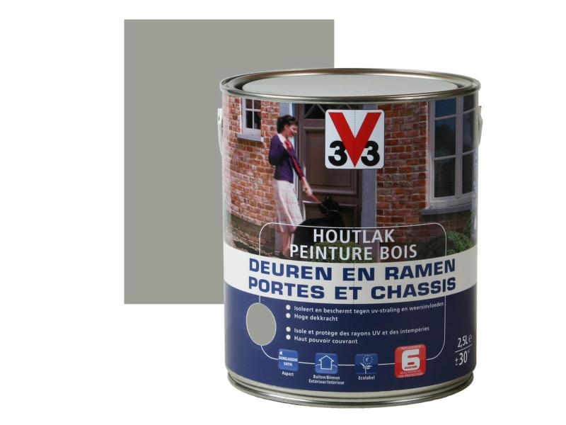V33 peinture bois portes & châssis satin 2,5l himalaya