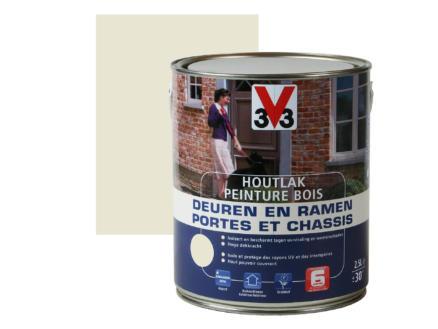 V33 peinture bois portes & châssis satin 2,5l moonlight
