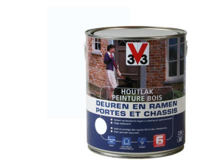 V33 peinture bois portes & châssis satin 2,5l pure white
