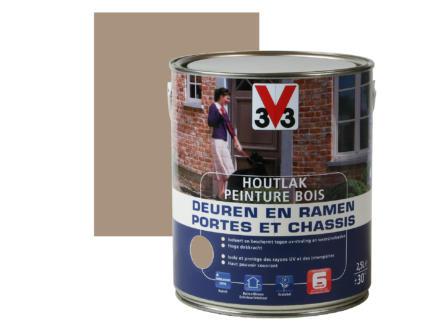 V33 peinture bois portes & châssis satin 2,5l savanna dry