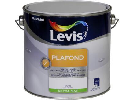 Levis peinture plafond extra mate 2,5l blanc
