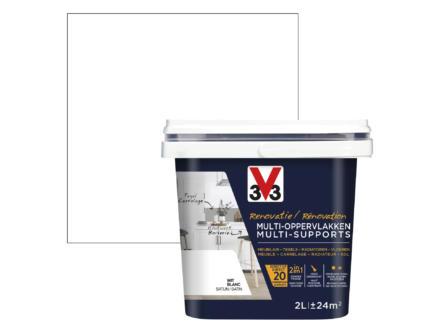 V33 peinture rénovation multi-support satin 2l blanc