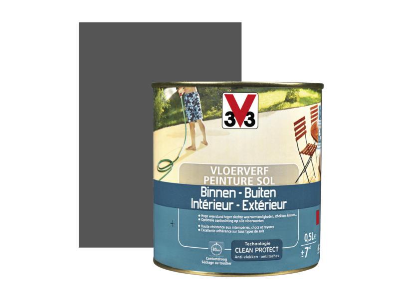 V33 peinture sol satin 0,5l graphite