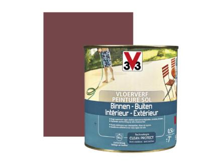 V33 peinture sol satin 0,5l rouge laque