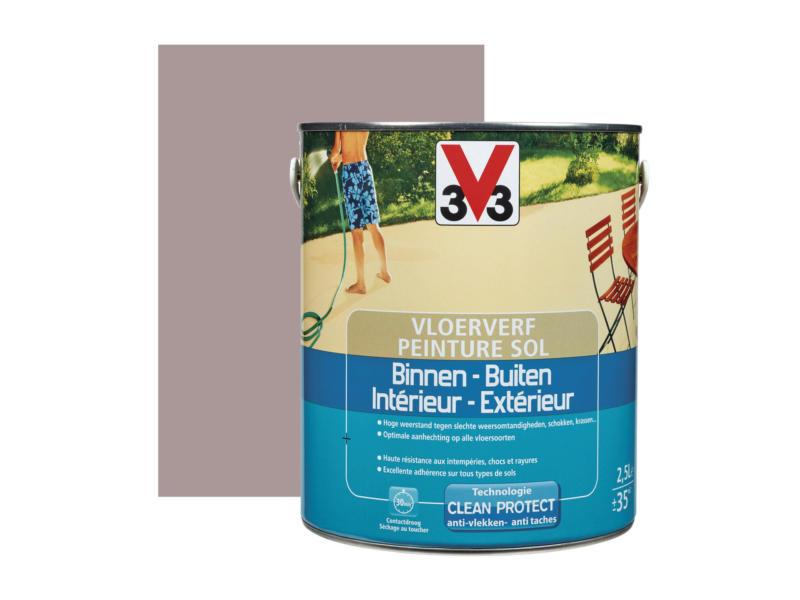V33 peinture sol satin 2,5l argile