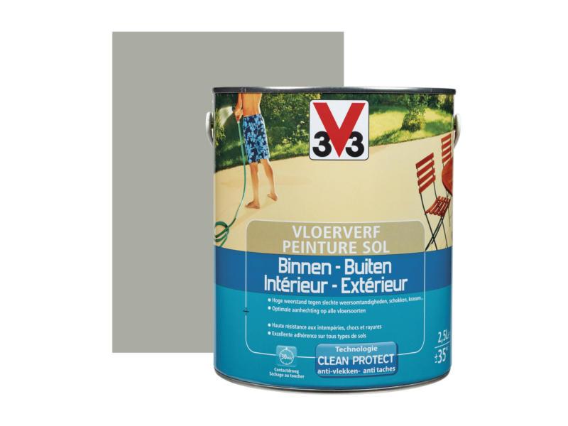V33 peinture sol satin 2,5l carbone