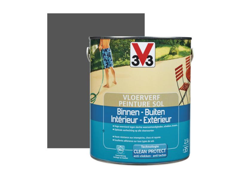 V33 peinture sol satin 2,5l graphite