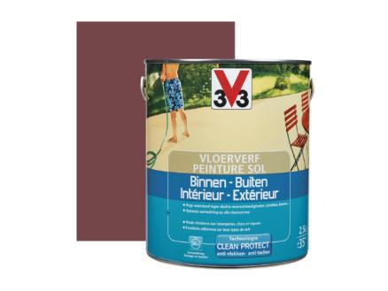 V33 peinture sol satin 2,5l rouge laque