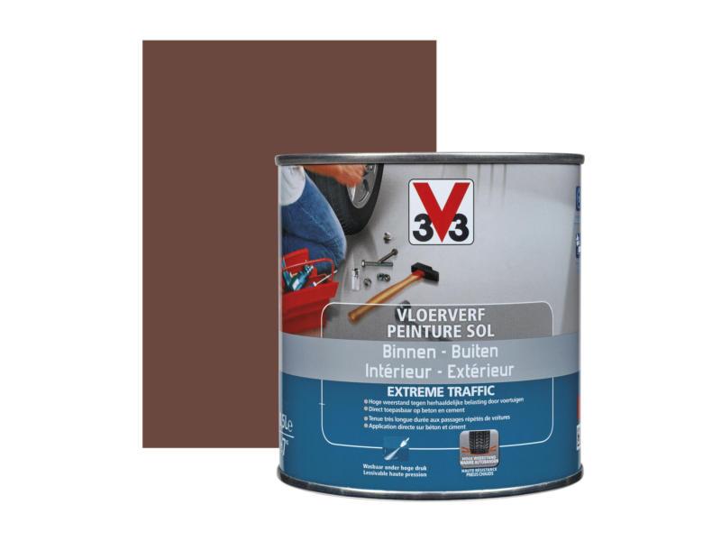 V33 peinture sol trafic extrême satin 0,5l terracotta