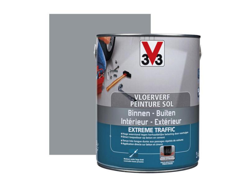 V33 peinture sol trafic extrême satin 2,5l ardoise