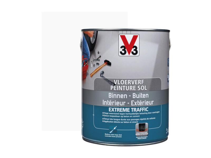 V33 peinture sol trafic extrême satin 2,5l blanc