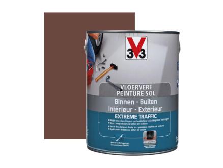 V33 peinture sol trafic extrême satin 2,5l terracotta