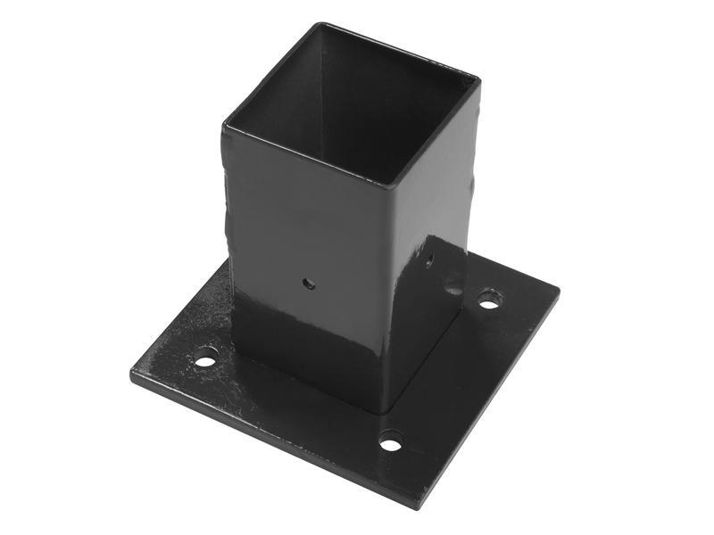 Giardino pied de poteau 6x6 cm noir