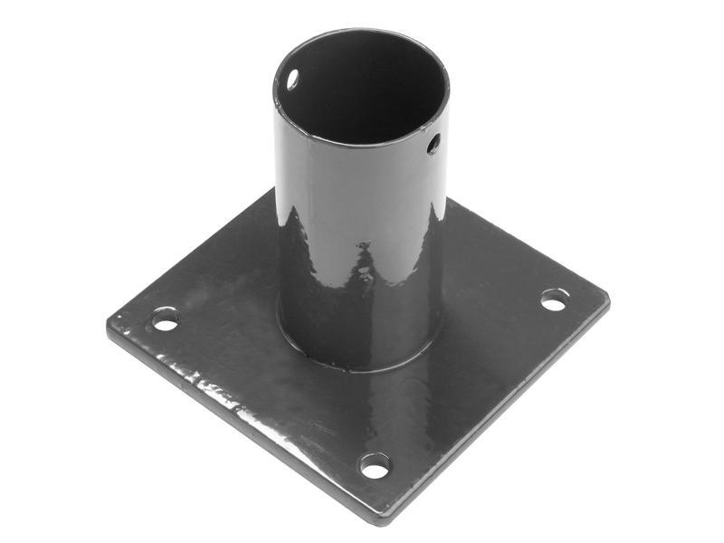 Giardino pied pour poteau rond de 48mm gris