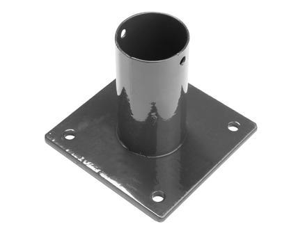 Giardino pied pour poteau rond de 60mm gris