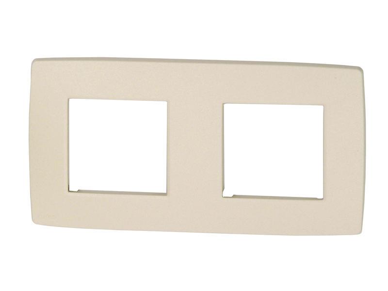Niko plaque de recouvrement double horizontal Intense bronze