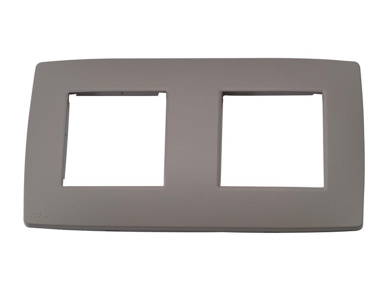 Niko plaque de recouvrement double horizontal Original greige