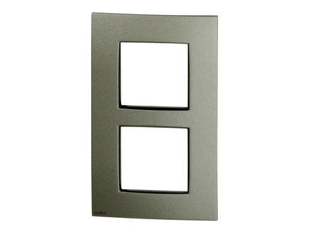 Niko plaque de recouvrement double vertical Intense bronze