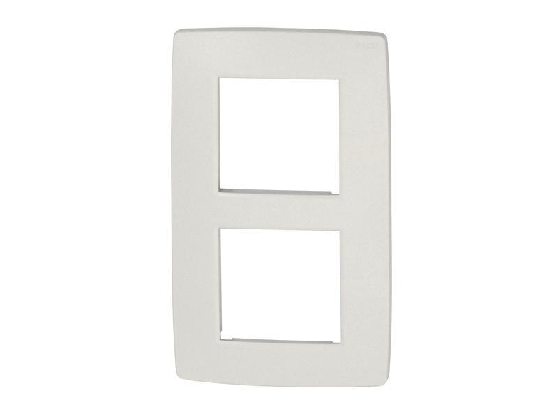 Niko plaque de recouvrement double vertical Original white