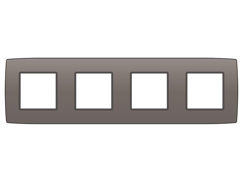 Niko plaque de recouvrement quadruple horizontal Original greige