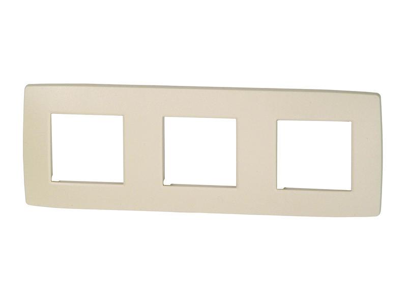 Niko plaque de recouvrement triple horizontal Original cream