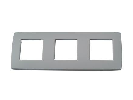 Niko plaque de recouvrement triple horizontal Original light grey