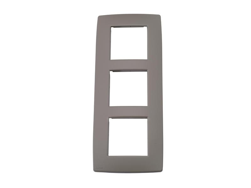 Niko plaque de recouvrement triple vertical Original greige