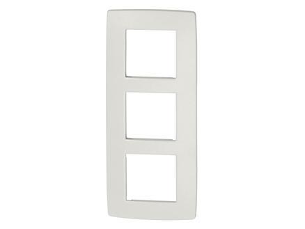 Niko plaque de recouvrement triple vertical Original white