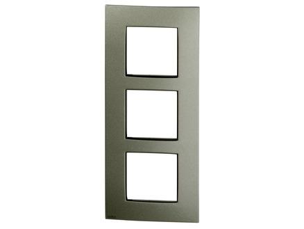 Niko plaque de recouvrement vertical triple Intense bronze