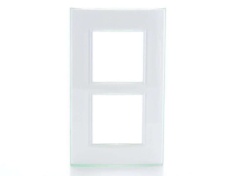 Bticino plaque double LivingLight vertical aqua