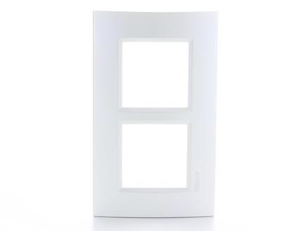 Bticino plaque double LivingLight vertical argent