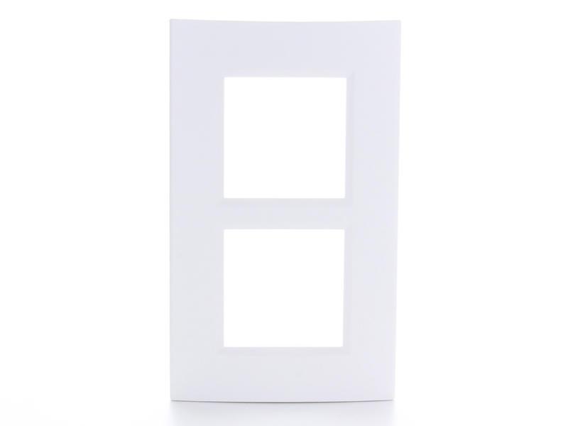 Bticino plaque double LivingLight vertical blanc