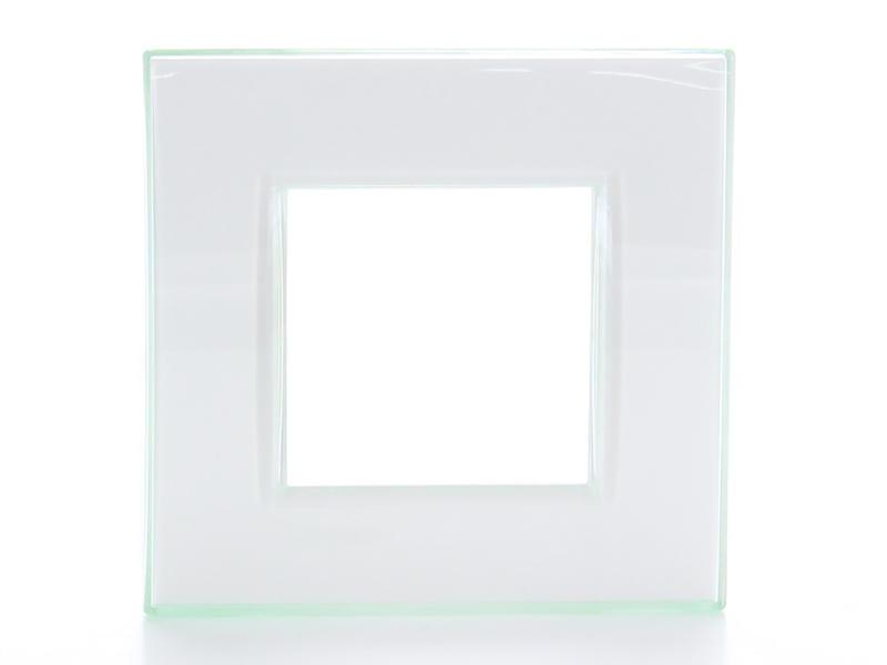 Bticino plaque simple LivingLight aqua