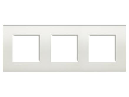 Bticino plaque triple LivingLight horizontal blanc