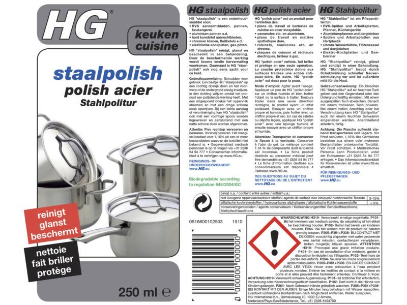HG polish acier 250ml