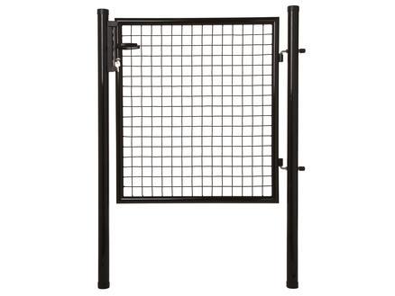 Giardino poort met slot 125x100 cm zwart