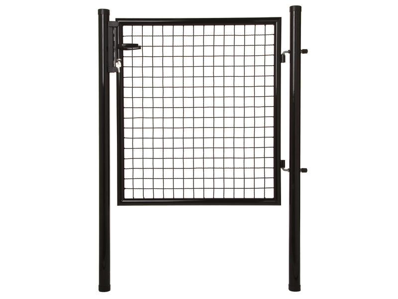 Giardino poort met slot 150x100 cm zwart