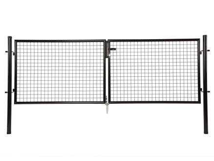 Giardino portillon double 300x125 cm noir