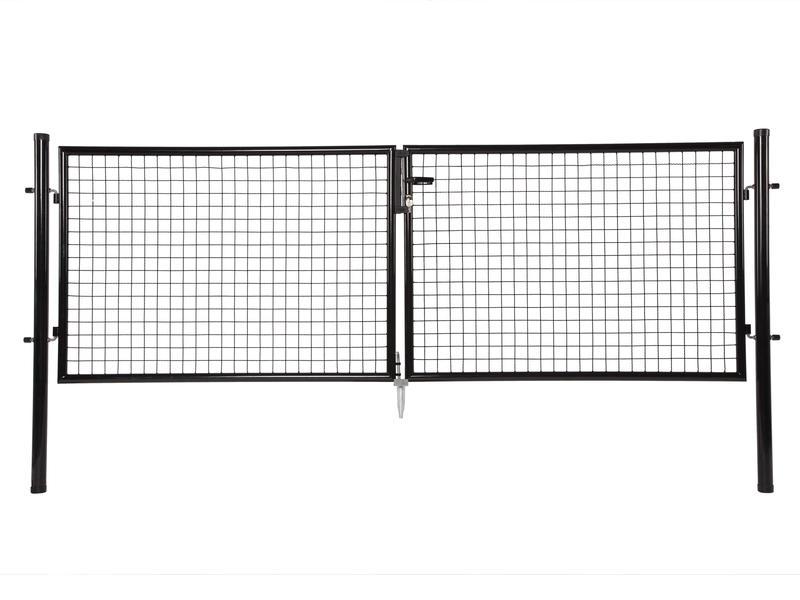 Giardino portillon double 300x150 cm noir