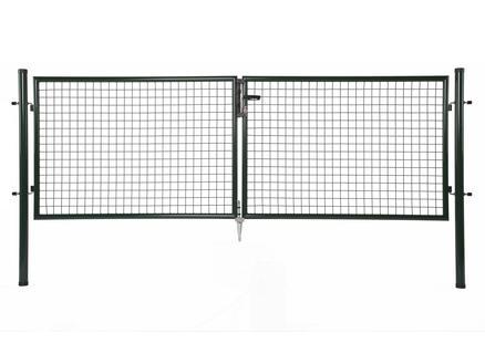 Giardino portillon double 300x150 cm vert pilots ronds