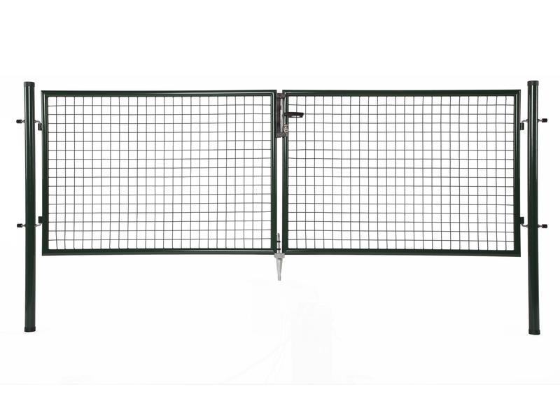 Giardino portillon double 300x200 cm vert pilots ronds