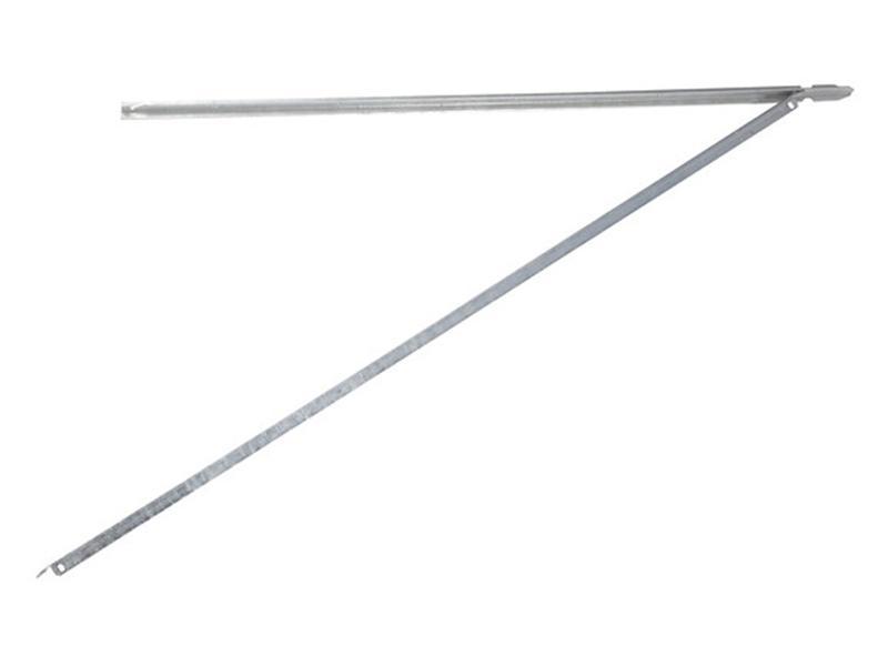 Giardino poteau en T 225x3 cm gris