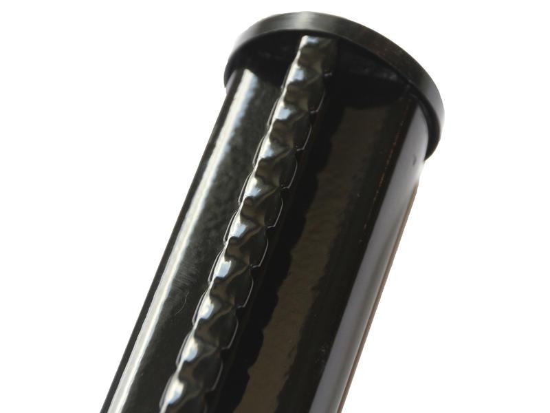 Giardino poteau grillage profilé 250x4,8 cm noir