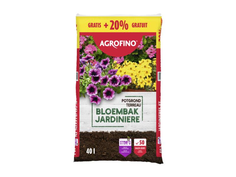 Agrofino potgrond voor bloembakken 40l +20%