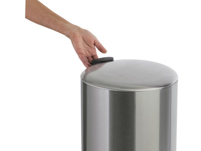 Practo Home poubelle à pédale 30l inox mat