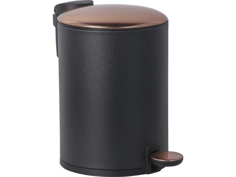 Practo Home poubelle à pédale 3l noir/bronze