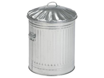 Practo Garden poubelle en métal 60l acier galvanisé