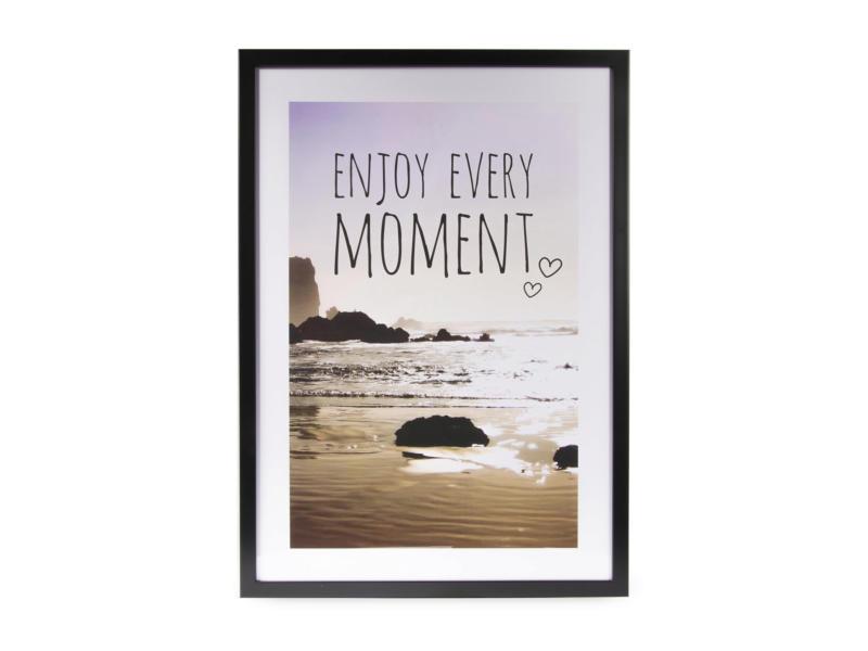 Art for the Home print in kader 50x70 cm enjoy