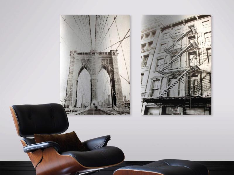 Art for the Home print op aluminium 70x100 cm brug van Brooklyn