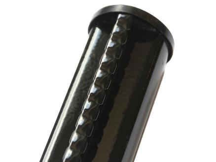 Giardino profielpaal 250x4,8 cm zwart